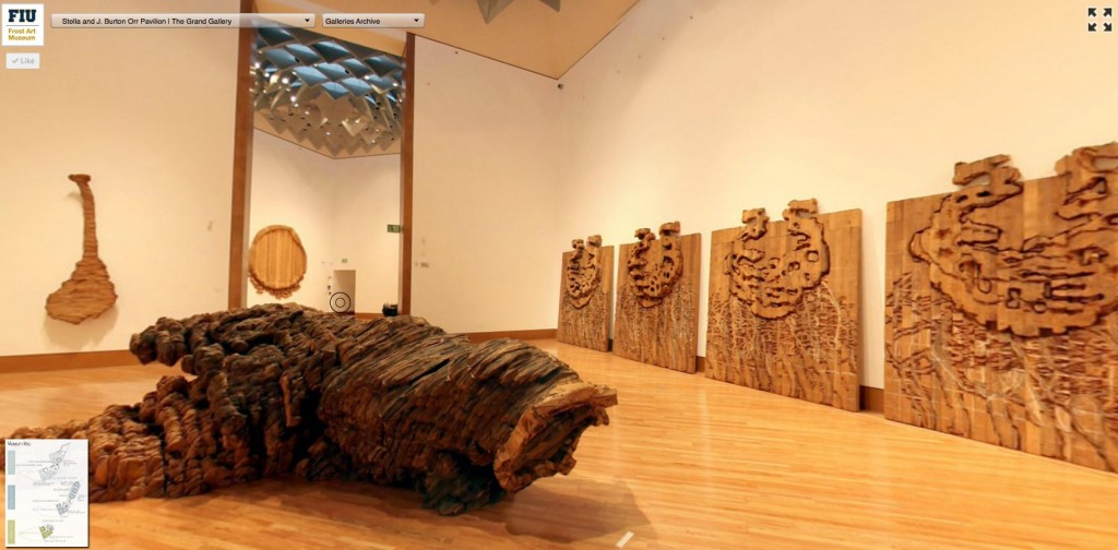 Ursula von Rydingsvard: Sculpture as seen through the Virtual Frost Art Museum.