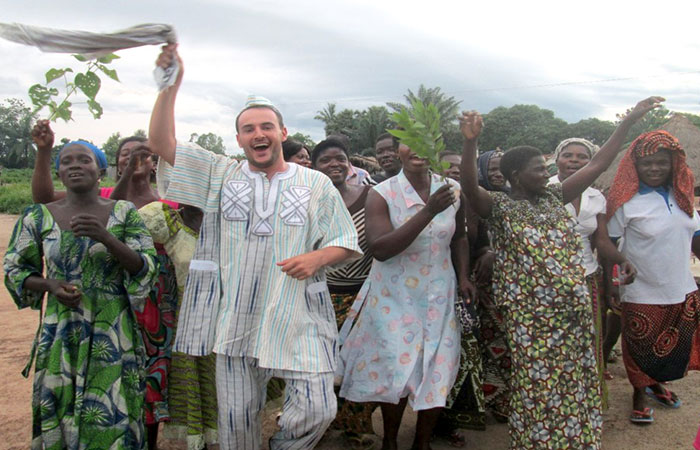 Returning Peace Corps Volunteer Sebastian Rivera is photographed during his 28 months of service in Togo.
