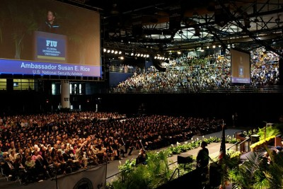 National Security Advisor Susan Rice delivers the keynote address during the 2016 Spring Commencement ceremony for the Steven J. Green School of International and Public Affairs