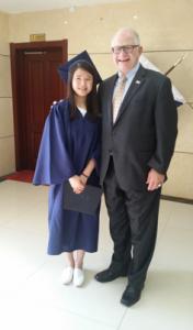 Class Valedictorian Zhou Xin