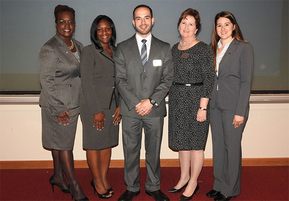 Left to right: Annette Alexis, Germa Clarke, Orlando Soto, Maureen Lillis and Julia Martinez