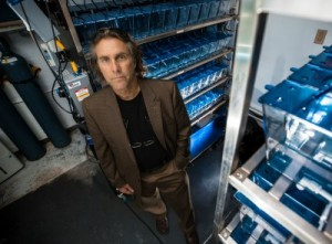 Todd Crowl in his lab. Click here to watch his TEDxFIU talk on climate resolve