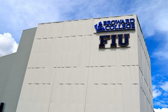 FIU and Broward College share a four-story building off I-75 in Miramar