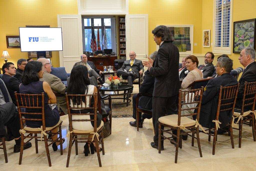 Atorod Azizinamini speaks at FIU endowed faculty reception