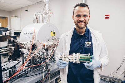 Paolo Benigni is part of the research team at FIU's Center for Aquatic Chemistry and Environment that developed a new tool to assess oil spill damage.