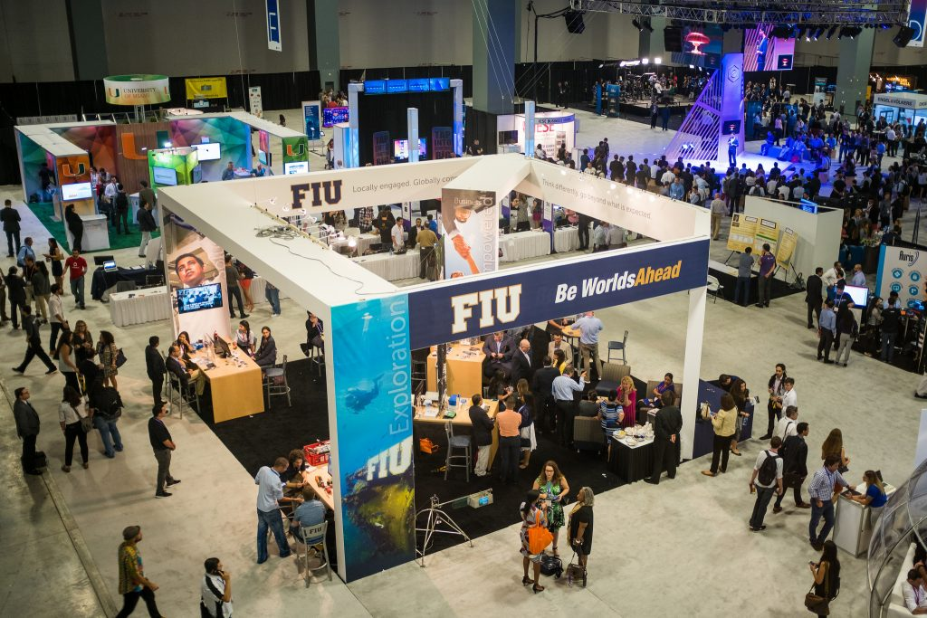 FIU pavillion at eMerge Americas conference