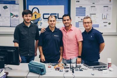 Kyle Denney, Dr. Selcuk Uluagac, Leonardo Babun and Enes Erdin