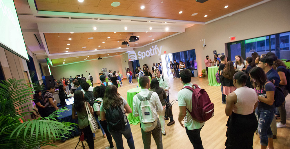 Spotify event at FIU COB