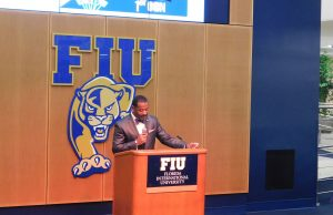 Jaffus Hardrick at National First-gen Day at FIU